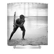 Beach Cricket Shower Curtain