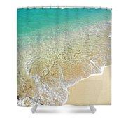 Golden Sand Beach Shower Curtain