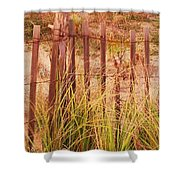 Beach Dune Fence At Cape May Nj Shower Curtain