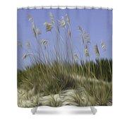 Beach Dune Pixelated Shower Curtain