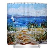 Beach Dunes Summer's End Shower Curtain