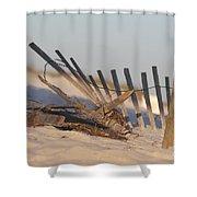 Beach Fencing Shower Curtain