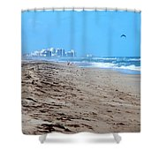 Beach Front 002 Shower Curtain