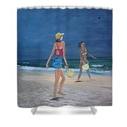 Beach Games Shower Curtain
