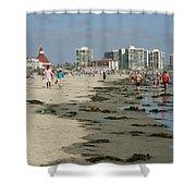 Beach Goers Shower Curtain