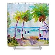 Beach House Tropical Paradise Shower Curtain