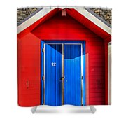 Beach Hut 12 Shower Curtain