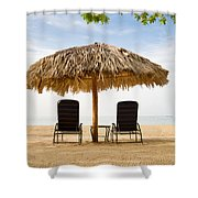 Beach Hut For Two Shower Curtain