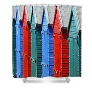 Beach Huts 2 Shower Curtain