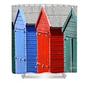 Beach Huts 3 Shower Curtain