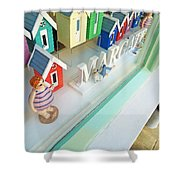 Beach Huts For Sale Shower Curtain