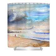 Beach In Lanzarote Shower Curtain