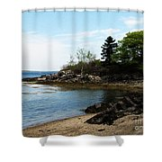 Beach In Maine Shower Curtain