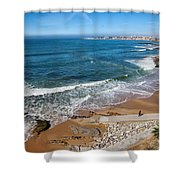 Beach In Resort Town Of Estoril Shower Curtain