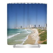 Beach In Tel Aviv Israel Shower Curtain