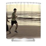 Beach Joggers Shower Curtain