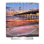 Beach Lace Shower Curtain