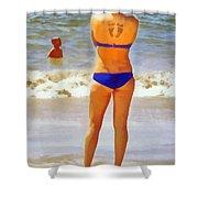 Beach Mom Shower Curtain