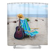 Beach Music Shower Curtain