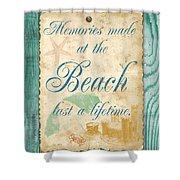 Beach Notes-a Shower Curtain