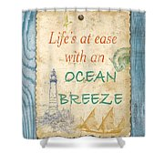 Beach Notes-c Shower Curtain