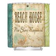 Beach Notes-d Shower Curtain