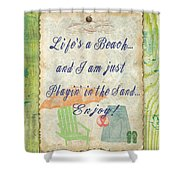 Beach Notes-e Shower Curtain by Jean Plout