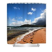 Beach Of Color Shower Curtain
