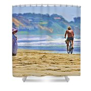 Beach Of Life Large Crop Shower Curtain