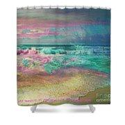 Beach  Overcast Shower Curtain