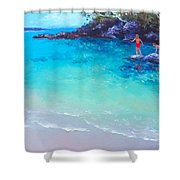 Beach Painting - A Day To Remember Shower Curtain