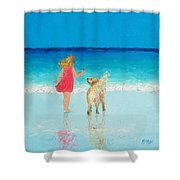 Beach Painting 'sunkissed Hair'  Shower Curtain