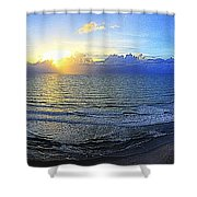 Beach Panorama Shower Curtain