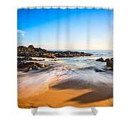 Beach Paradise - Beautiful And Secluded Secret Beach In Maui. Shower Curtain