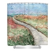 Beach Path Shower Curtain by Linda Woods
