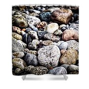 Pebbles On Beach Shower Curtain