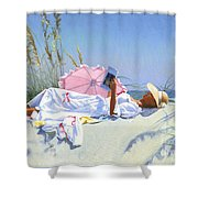 Beach Recliner Shower Curtain