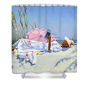 Beach Recliner Shower Curtain