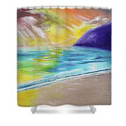 Beach Reflection Shower Curtain