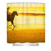 Beach Rider Shower Curtain
