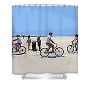 Beach Riders Shower Curtain