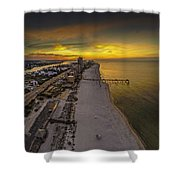 Beach Road Sunrise Shower Curtain