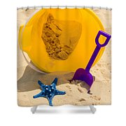 Beach Sand Pail And Shovel Shower Curtain