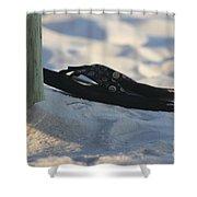 Beach Sandals 1 Shower Curtain