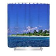Beach Scene Maldives Shower Curtain