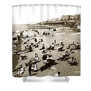 Beach Sean France  Circa 1900 Shower Curtain