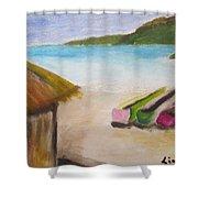 Beach Shack Shower Curtain