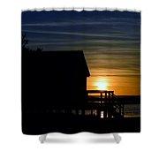 Beach Shack Silhouette Shower Curtain