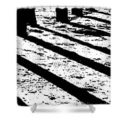 Beach Shadows Shower Curtain