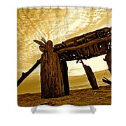 Beach Shed Shower Curtain
